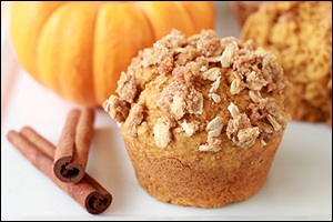 Hungry Girl's Streusel-Topped Pumpkin Muffins