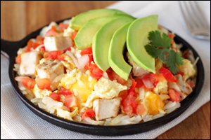 Hungry Girl's Cali Chicken Egg Scramble