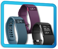 Fitbit Charge, Charge HR, and Surge