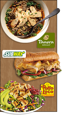 Panera Bread Broth Bowls, Subway Chicken, El Pollo Loco Under 500