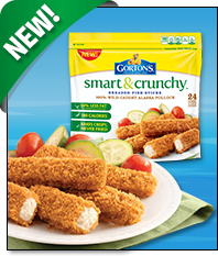 Gorton 39 s smart and crunchy fish sticks for Healthy fish sticks