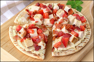 HG's Double-Cheese Bacon-Chicken Pizza