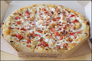 Pizza Hut's Cock-A-Doodle Bacon Pizza