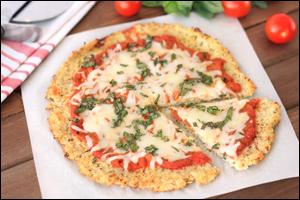 Hungry Girl's Cauliflower Crust Pizza
