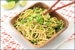 HG's Cold Sesame Zucchini Noodles