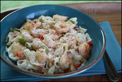 HG's Spicy Southern Shrimp Fettuccine