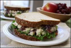 HG's Totally Nuts Creamy Chicken Salad Sandwich
