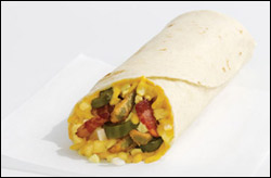 Sonic's Flamin' Bacon Breakfast Burrito