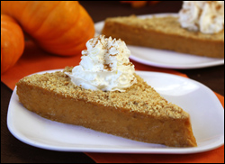 HG's Upside-Down Pumpkin Pie