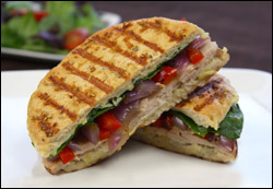 Chicken Panini With Gruyere, Tarragon And Artichoke Spread Recipe ...