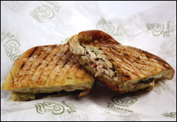 Panera Bread's Roasted Turkey Artichoke Panini