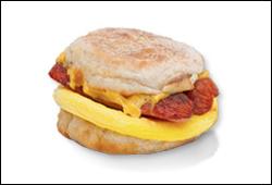 Dunkin' Donuts' Smokehouse Sausage Breakfast Sandwich