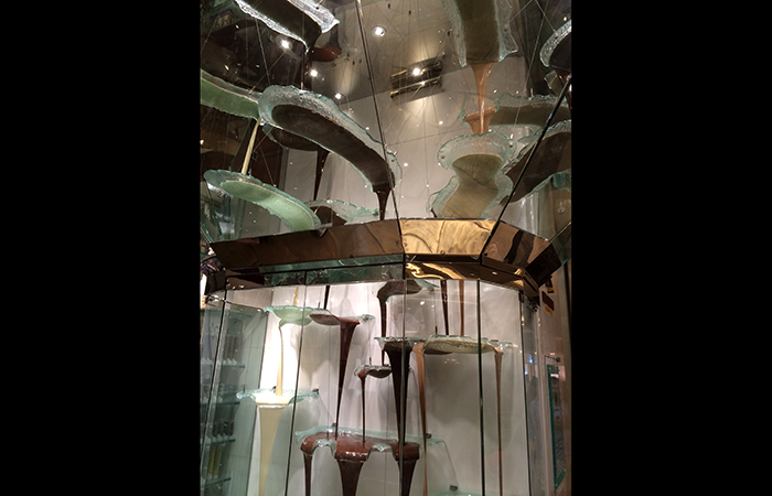 Chocolate fountain at the Bellagio.
