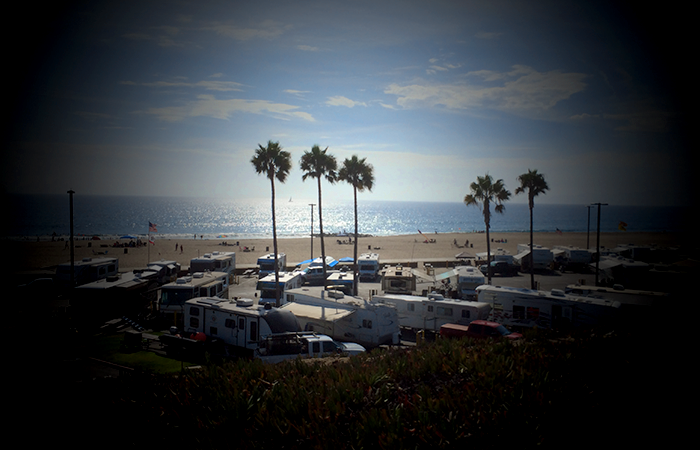 Can you see the Mobile Map Cave, parked in Dockweiler RV Park?
