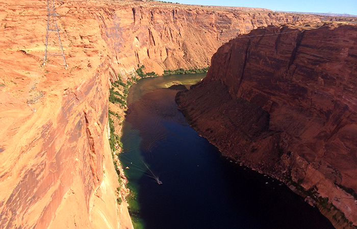 Glen Canyon, and the Colorado River flowing out of it.