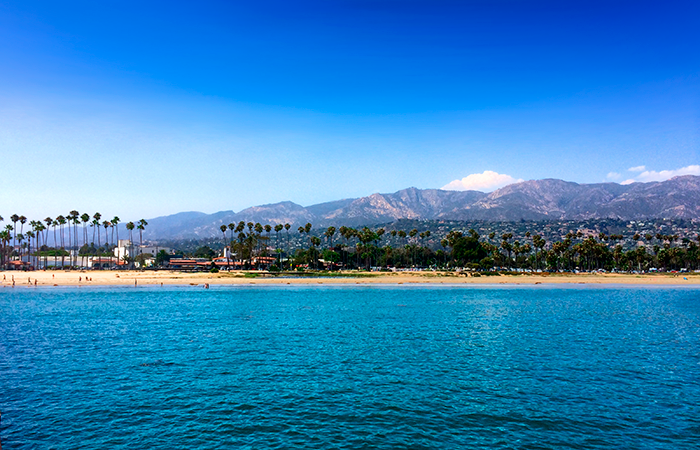 A view inland from the Santa Barbara pier.