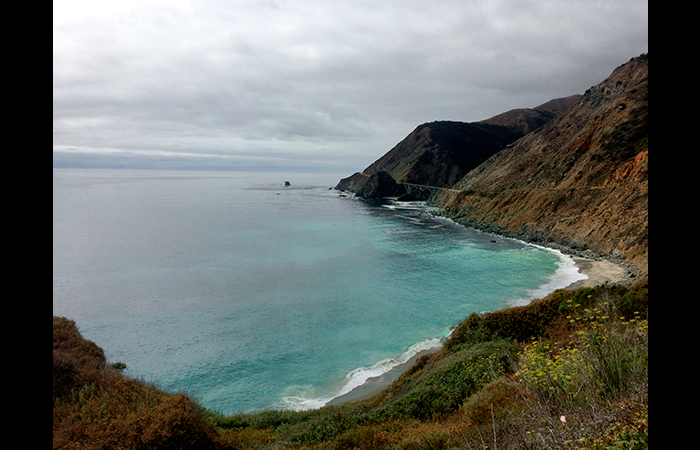 The cliffs of Big Sur, in all their glory.