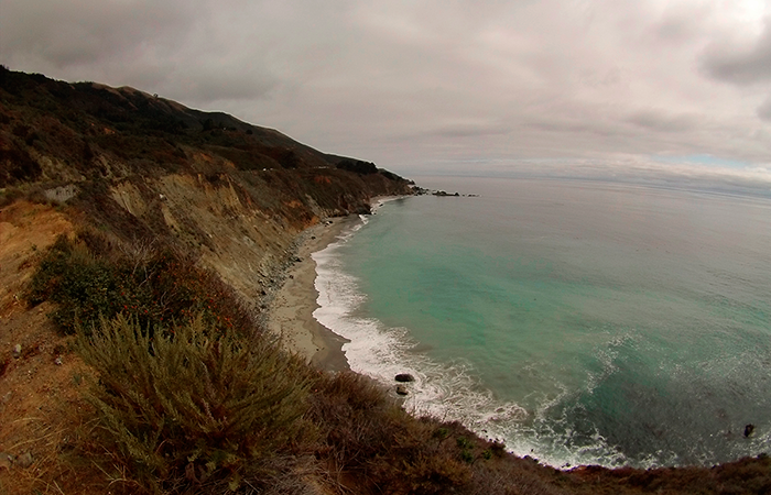 The GoPro was loving the Pacific Coast Highway.
