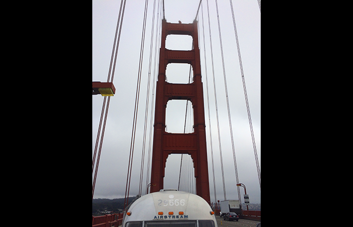 The Mobile Map Cave ventures over the Golden Gate Bridge.