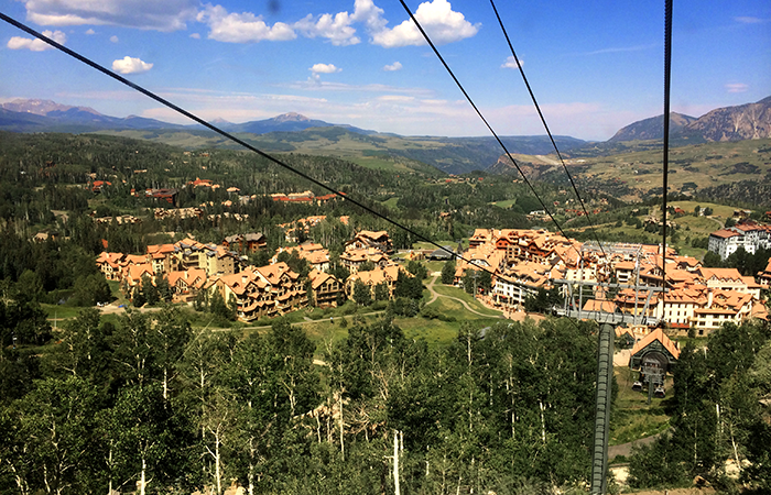 The gondola from Telluride takes you to Mountain Village.