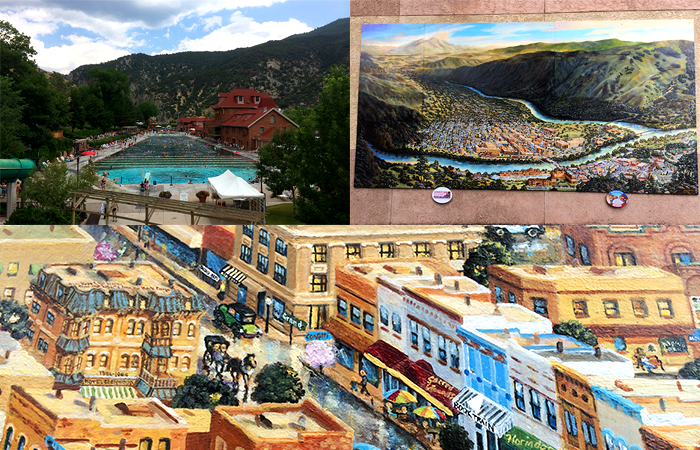 Glennwood Springs, CO was also a solid stop. Here is a huge painting in the park downtown.