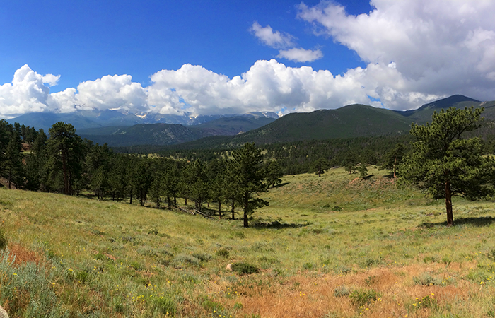 Leaving Estes Park, heading on Trail Ridge Road.