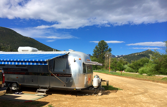 Our setup in Spruce Lake RV, Estes Park, CO.