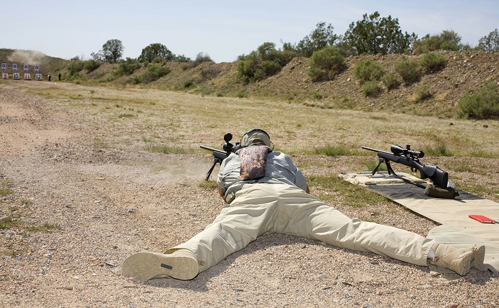 basic shooting position prone with bipod