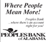 Website for Peoples Bank of Alabama - Cullman Main