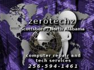 Website for Zerotechz Computer Repair and Tech Services
