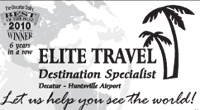 Website for Elite Travel Company, Inc.