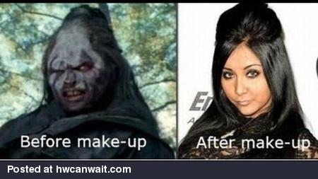 Snooki Before and After Make Up