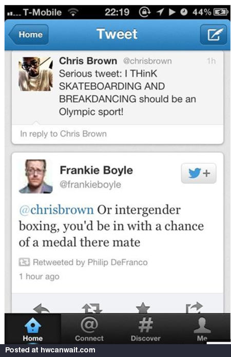 Chris Brown in the olympics?