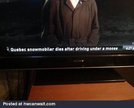 Most Canadian headline ever