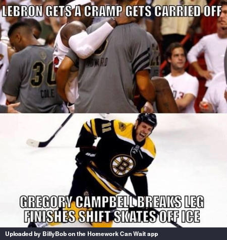 Hockey players are tougher