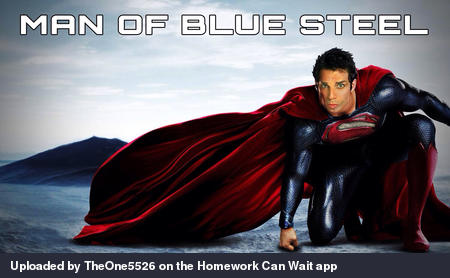 Man of blue steel