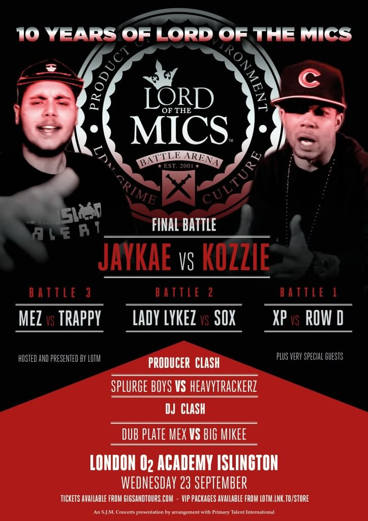 10 years of the lord of the mics