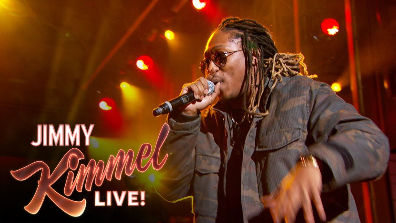 "Future Performs ""Blow a Bag"" & ""Where Ya At"" On ""Jimmy Kimmel Live!"""