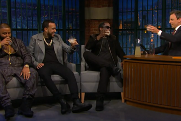 Puff Daddy, DJ Khaled & French Montana All Drop By 'Late Night'