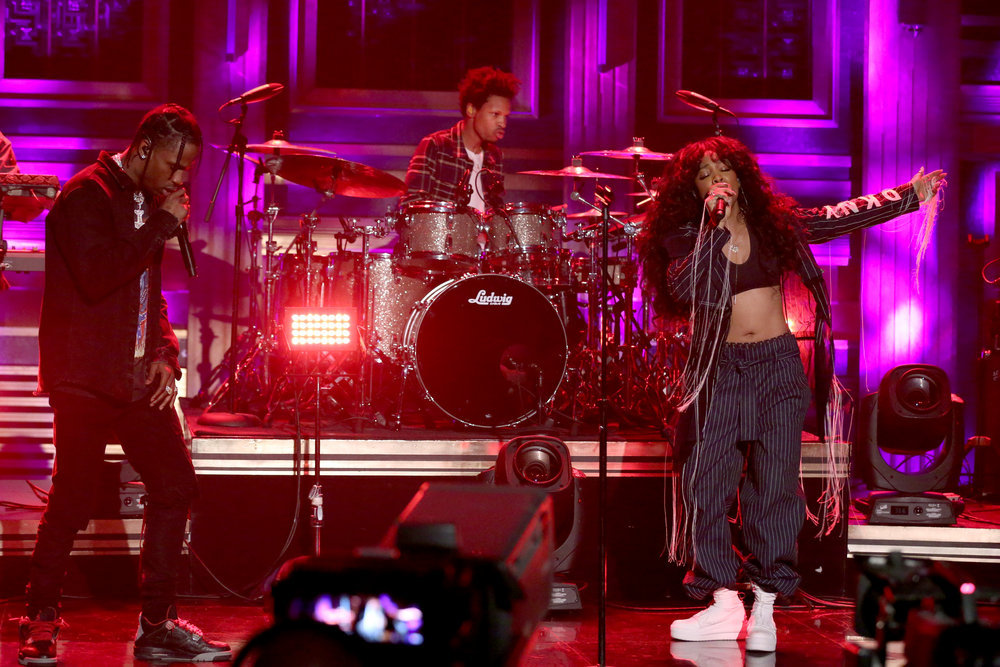 "SZA & Travis Scott Perform ""Love Galore"" on 'The Tonight Show'"