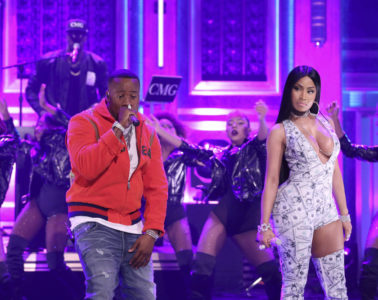 "Yo Gotti & Nicki Minaj Perform ""Rake It Up"" on 'The Tonight Show'"