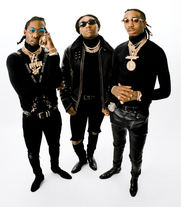Offset, Takeoff and Quavo (from left) Theo Wenner for Rolling Stone