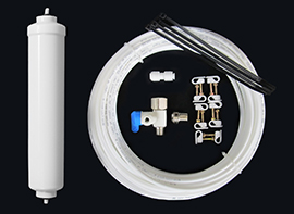 Water-Line Install Kit with Inline Carbon Filter