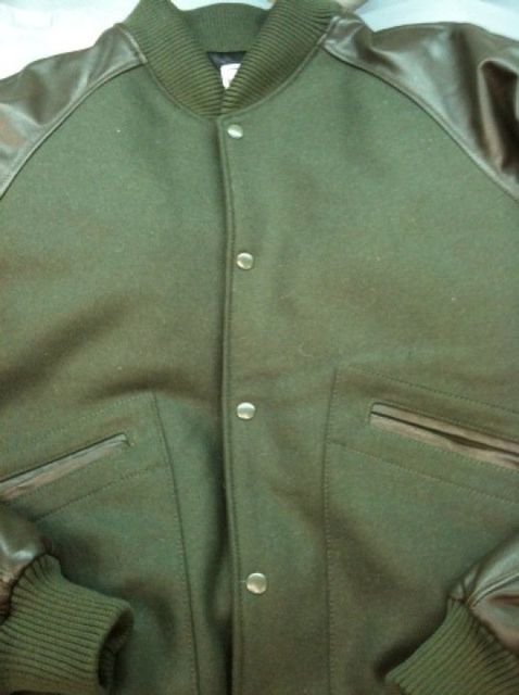 a couple quick iPhone snaps of an all-loden green varsity for those who were wondering what that looks like: