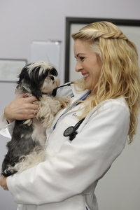Dr. Calland and Gizmo