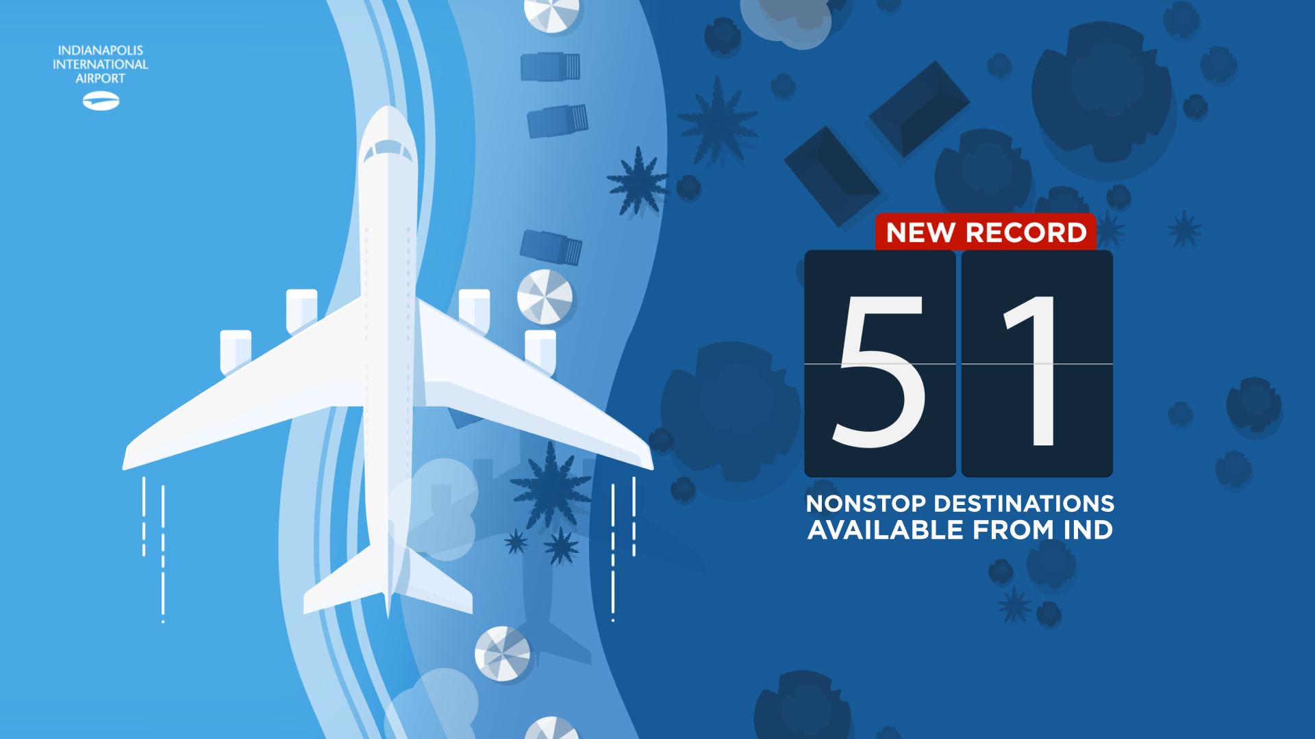 51 nonstop destinations