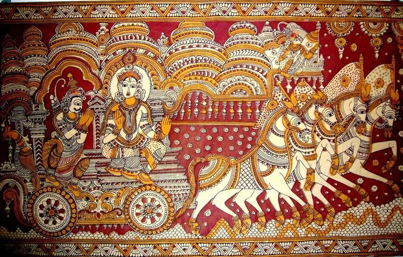 Gita kalamkari painting