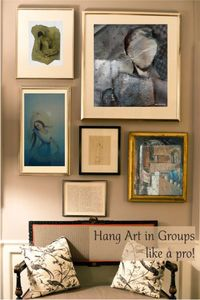 Learn to Hang Art in Groups