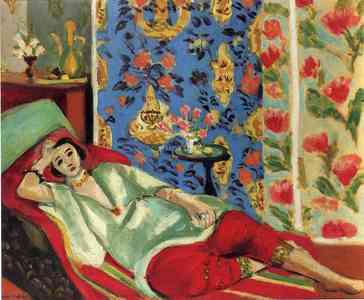 4aug odalisque in red trousers 1921