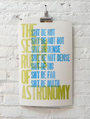 I Am Still Alive / The Seven Rules of Astronomy :  i am still alive art home astronomy